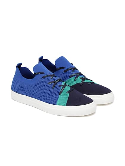 a6912dbdb1c97 United Colors of Benetton Men Blue   Green Colourblocked Sneakers