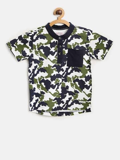 designer fashion 74994 c071e Nauti Nati. Printed Henley Neck T-shirt
