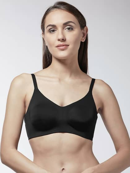 438a5353 Marks & Spencer Black Solid Non-Wired Non Padded Everyday Bra T337146