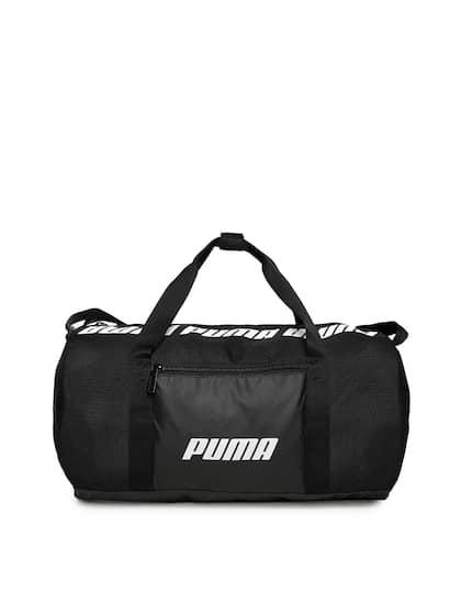 bea6838ed2 Puma Women Black Core Barrel S Brand Logo Duffel Bag