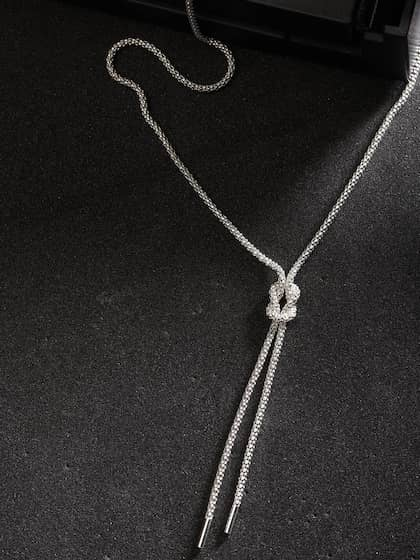 Silver Necklaces -Buy Silver Necklace Online | Myntra