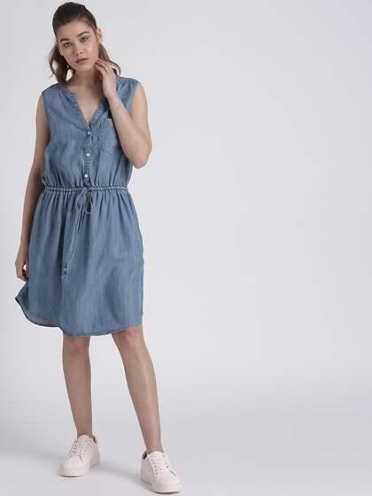 Denim Dresses - Buy Denim Dresses Online in India  a7e55573432d