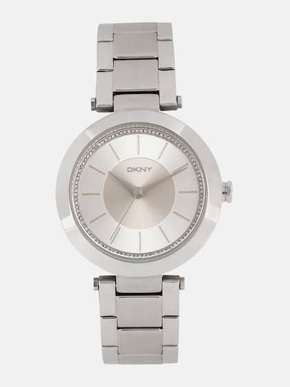 4afc7bb88 DKNY Women Silver-Toned Factory Serviced Embellished Analogue Watch  NY2285_FSS