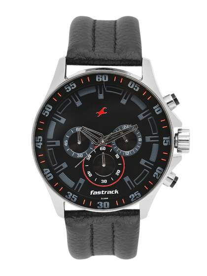 99c3a20b2 Fastrack Men Black Genuine Leather Analogue Watch NK3072SL06 OR2