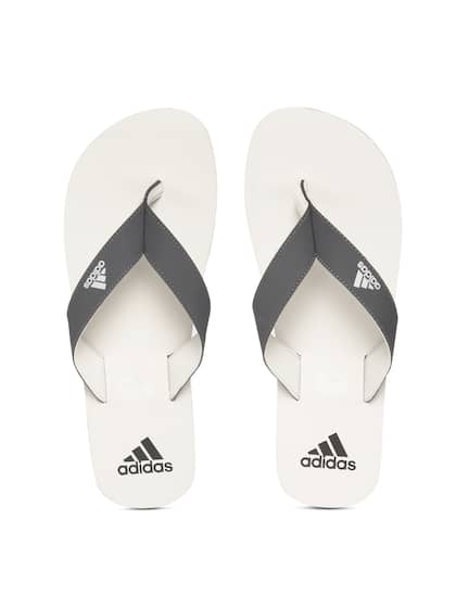 62c01539c ADIDAS Men Charcoal Grey   White EEZAY Maxout Solid Thong Flip-Flops