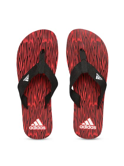 2da52f8316ff25 ADIDAS Men Black   Red ARIL Attack 2017 Printed Thong Flip-Flops
