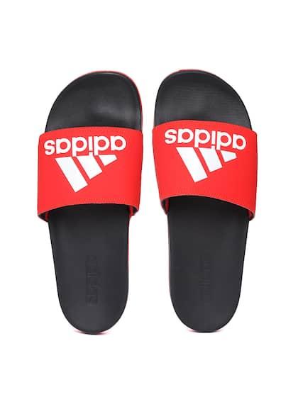 f84a9e3600b8 ADIDAS Men Red   Black Adilette Comfort Printed Sliders
