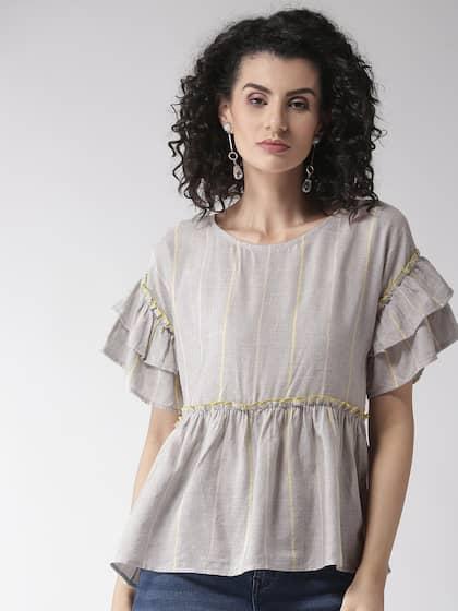 bda5fc1ace875 Women Grey Top Shirts Tops - Buy Women Grey Top Shirts Tops online ...