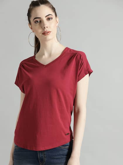 2cf79a9a264bf T-Shirts for Women - Buy Stylish Women's T-Shirts Online   Myntra