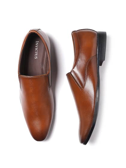 d523bb9d140 INVICTUS Men Tan Brown Leather Formal Loafers