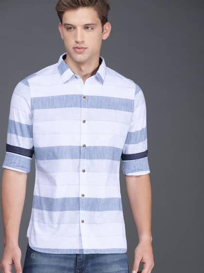 92bb05e659a620 WROGN. Men Slim Fit Casual Shirt