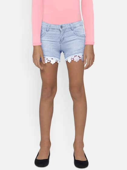 c6387e94d8 Shorts For Girls- Buy Girls Shorts online in India - Myntra