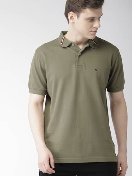 Tommy Hilfiger Green Solid Shirt Buy Tommy Hilfiger Green