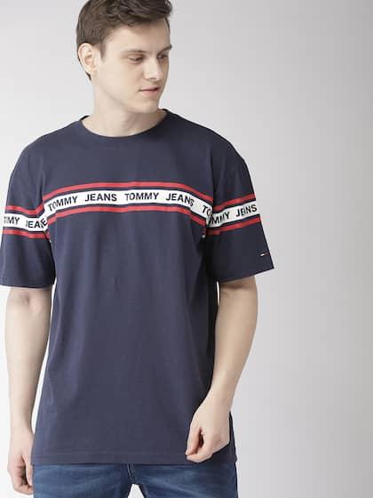 8ba4c988 Tommy Hilfiger Tshirts Blue Printed Tshirt - Buy Tommy Hilfiger ...