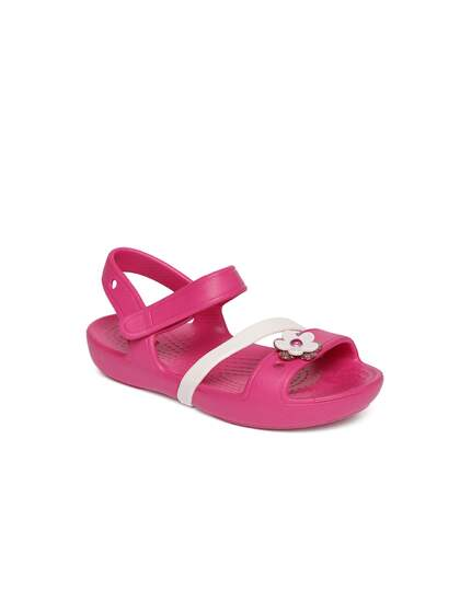 e0b9cdbf318e87 Crocs. Girls Open Toe Flats