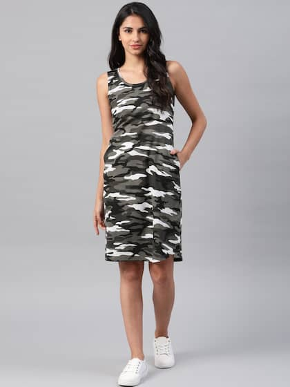 8177872ca0 NUSH. Women Printed A-Line Dress