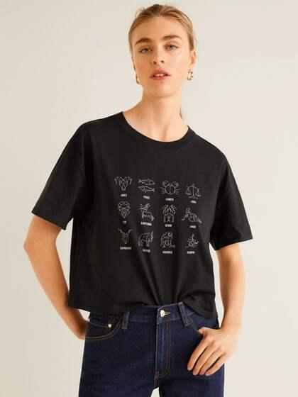61fc42ce18 MANGO. Printed Boxy T-shirt