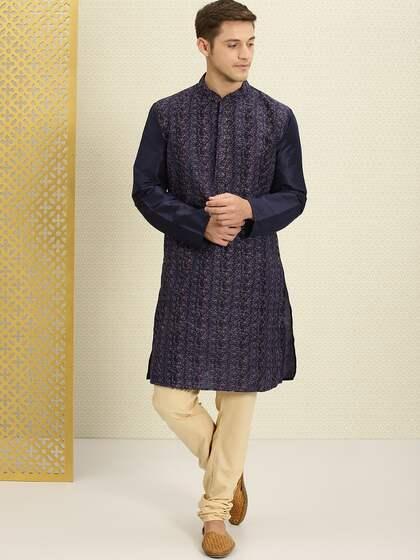 0498731e8d Men Kurta Pyjama - Buy Kurta Pyjama for Men Online in India   Myntra