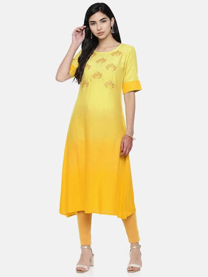 165c15203b Yellow Kurtas