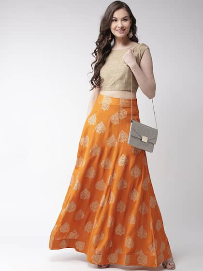 aace654eeb225b Ethnic Long Skirts - Buy Ethnic Long Skirts Online | Myntra