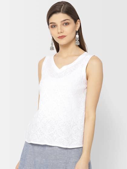 314079ffe79199 Fabindia Sleeveless Tops - Buy Fabindia Sleeveless Tops online in India