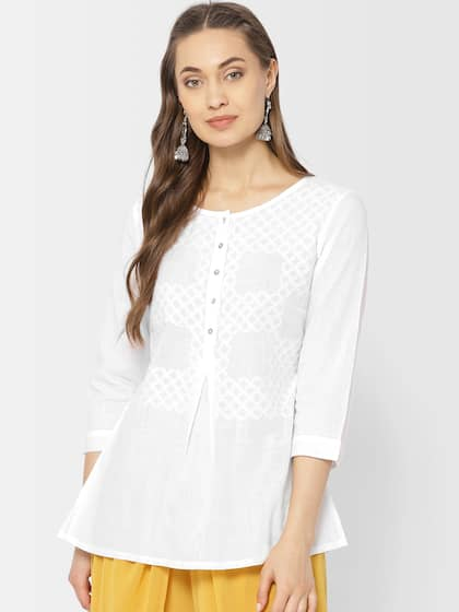 8286c987f84e White Kurtis - Shop for White Kurti Online in India