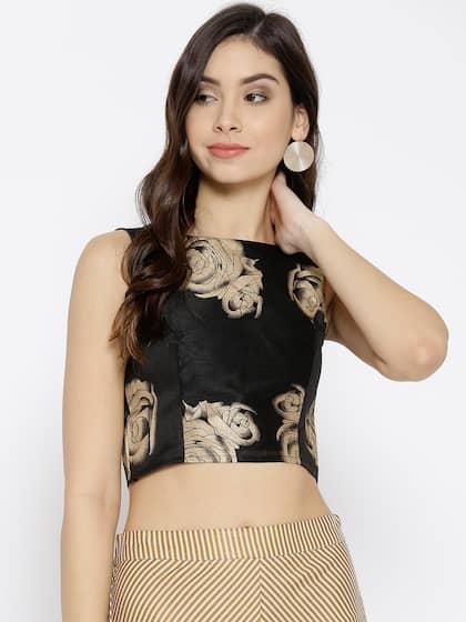 45c737b2e Crop Tops - Buy Midriff Crop Tops Online for Women in India