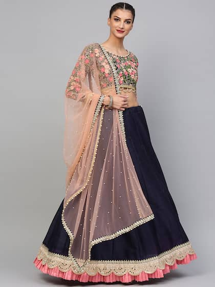 2b668b2db Inddus. Semi-Stitched Lehenga   Unstitched Blouse with Dupatta