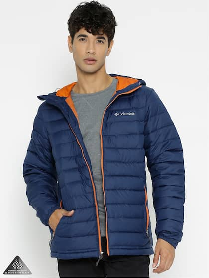 778f8144c0f88 Columbia Men Blue Solid Powder Lite Hooded Padded Jacket