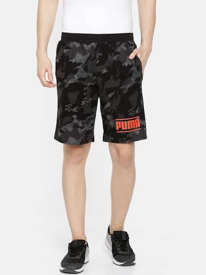 cc99cc5f94 Puma Men Black & Grey Camouflage Printed AOP Sports Shorts