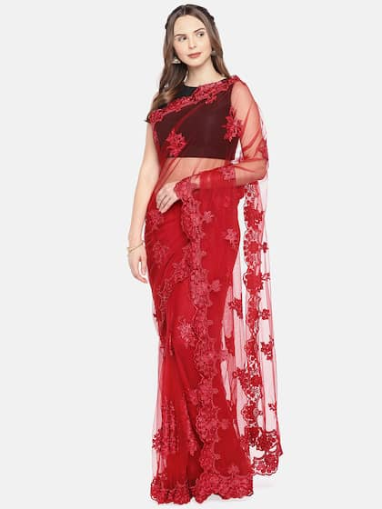 8da32343c0 Net Sarees - Buy Stylish Net Saree in India Online - Myntra