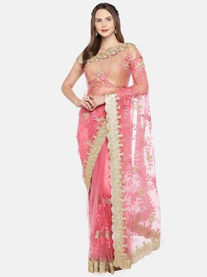 091af5b1fe Net Sarees - Buy Stylish Net Saree in India Online - Myntra