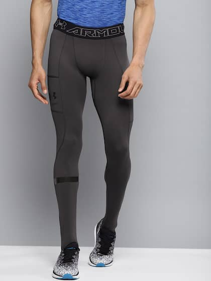 a9fd45d976 UNDER ARMOUR Men Charcoal Grey Solid Storm Cyclone Cold Gear Tights