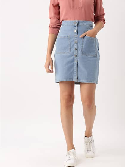 65ef2b5bee Denim Skirts - Buy Denim Skirts for Women Online | Myntra