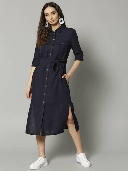 2af8fc744dc Linen Dresses - Buy Linen Dresses Online in India
