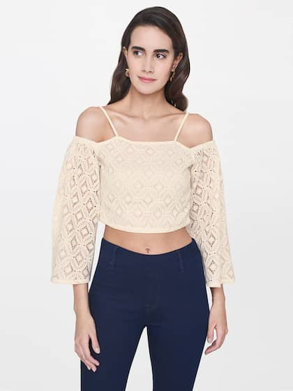 85ff2bdf3383eb Crop Tops - Buy Midriff Crop Tops Online for Women in India