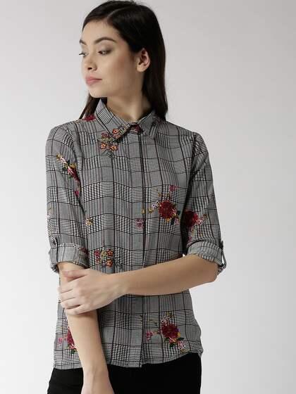 2a43883a14a5cd Women Black Shirt - Buy Women Black Shirt online in India