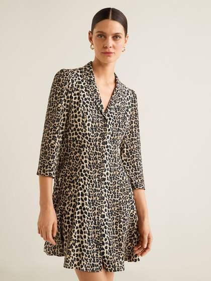 MANGO. Women Printed A-Line Dress 89373ee45
