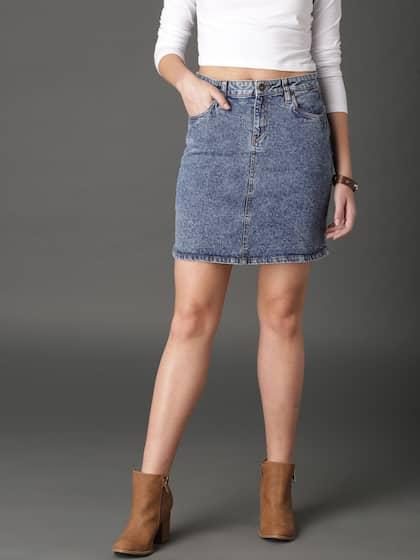 306b0c11b5bf Denim Skirts - Buy Denim Skirts for Women Online | Myntra