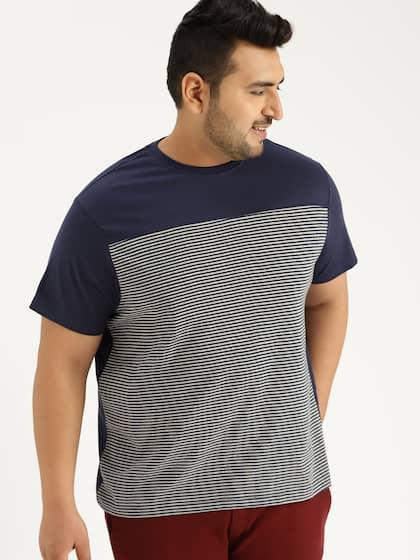 4c800494783309 Size. Sztori Men Navy Blue and Grey Striped T-shirt