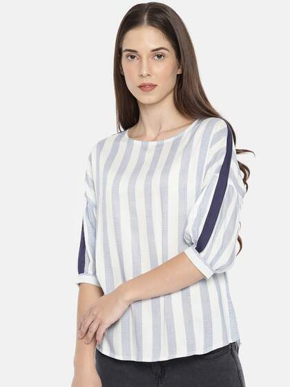 Women Striped Tops - Buy Women Striped Tops online in India c9ae04ff4