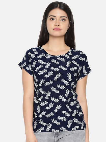 078f23b3cf Cut Sleeves Blue Top - Buy Cut Sleeves Blue Top online in India