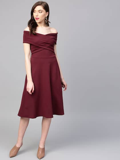 3b82e540742 Off Shoulder Dress - Buy Off Shoulder Dresses Online | Myntra
