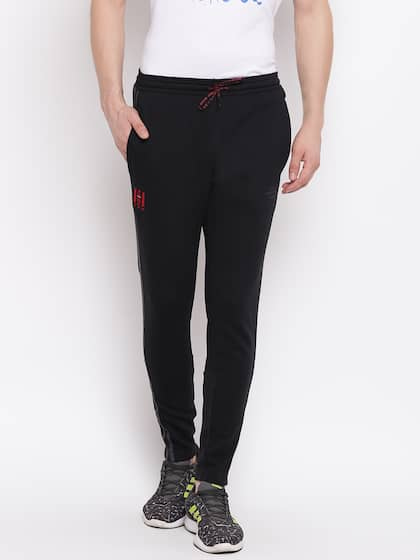 adidas track pants black red