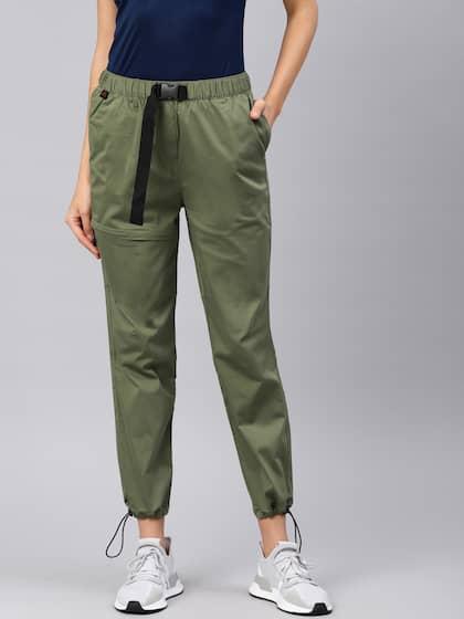 6170a3872a7c7 HRX by Hrithik Roshan. Womem Slim Fit Trousers. Sizes: 26, 28, 30 ...