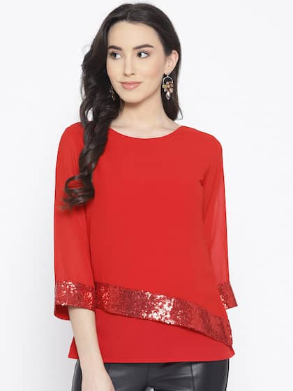 01b93067b1cbf Women Red Party Tops - Buy Women Red Party Tops online in India