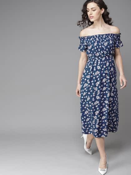 1316ebc75b Off Shoulder Dress - Buy Off Shoulder Dresses Online | Myntra