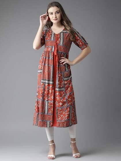 181913ea516 Ethnic Kurtas - Buy Ethnic Kurta Online in India at Myntra