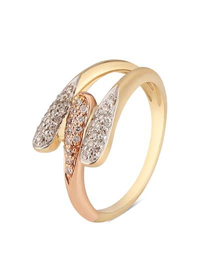 Mia by Tanishq 14-Karat Gold Precious Ring with Diamonds