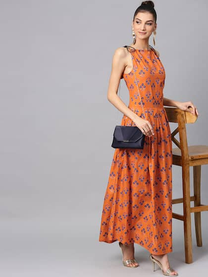Orange Dress for Women
